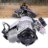 Samger 49cc 2 tempi motore avviamento con avviamento a ventola Motore raffreddato ad aria per bici da corsa Mini ATV Scooter per bici da corsa