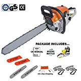 Heavy Duty Chainsaw 12' and 20' Petrol Saw with Blade Covers and Chains Included