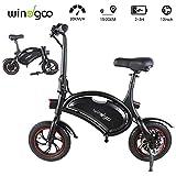 Windgoo Bicicleta Electrica 36V Plegable - E-Bike 12, Actualizar Bici Electrica Urbana Ligera para Adulto (Negro)
