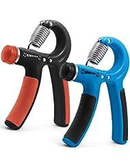 2 Pack Adjustable Hand Strengthener, FineGood Agarres mano Antebrazo Manos Muñeca Caucho Mango Grip Gripper