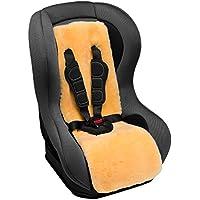 CHRIST Lammfell Autositzauflage für Kindersitz – universelle Kindersitzunterlage, Lammfelleinlage aus echtem medizinischem Fell, kein Patchwork, hochwertige Einlage für den Autokindersitz Ihres Kindes