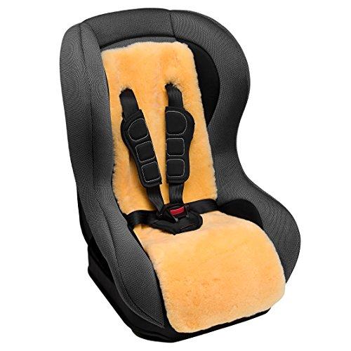 Lammfell Autositzeinlage für Kindersitz von CHRIST – universelle Lammfelleinlage aus echtem medizinischem Fell (kein Patchwork) für den Autokindersitz Ihres Babys