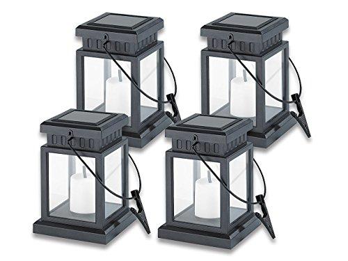 Lunartec–Lanterna solare a LED; in stile asiatico, set da 4