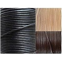 AURORIS - Lederband rund Ø 1 mm - Länge/Farbe wählbar - Variante: 2m / schwarz