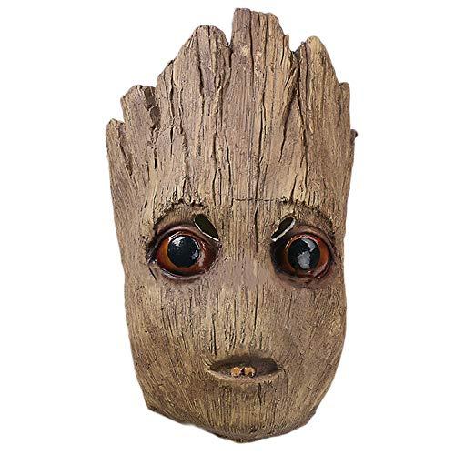 YANJJ Galaxy Guard Kleine Baum Mann Groot Maske Halloween Head Set Requisiten,LittleTreeMask-OneSize