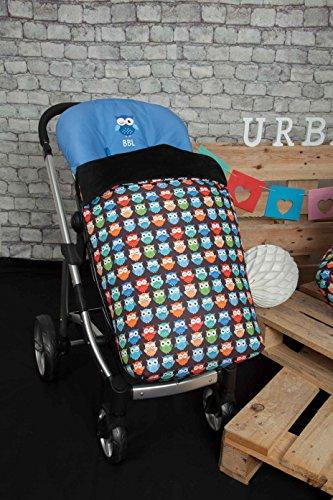 Saco de Bebé Universal Silla con Cubre Pies Polar, Desmontable con Cremalleras. Lavable a máquina. (Pirata Chica)