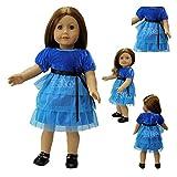 ZITA ELEMENT® Mode A La Main Bleu Dentelle Robe Jupe Pour 18 pouces Poupée American Girl 45-46cm Poupée bébé