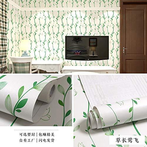 lsaiyy PVC Selbstklebende tapete wasserdicht Schlafzimmer Wohnzimmer Dekoration tapete wandaufkleber möbel renovierung Aufkleber tapete-45 cm X 10 M -