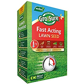Westland Gro-Sure Smart Lawn Seed With Aqua Gel Technology 90m2 Coverage 3.6KG!