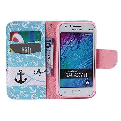 Chreey Coque Apple Iphone 4 / 4S (3.5 pouces) ,PU Cuir Portefeuille Etui Housse Case Cover ,carte de crédit pour , serrures magnétiques, support pliable, idéal pour protéger votre téléphone ancre noire