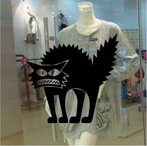 Wandtattoo Vinyl Abnehmbare 3D Wandaufkleber Halloween Schwarze Katze Dekor Abziehbilder Für Wände Aufkleber 11X12 Cm