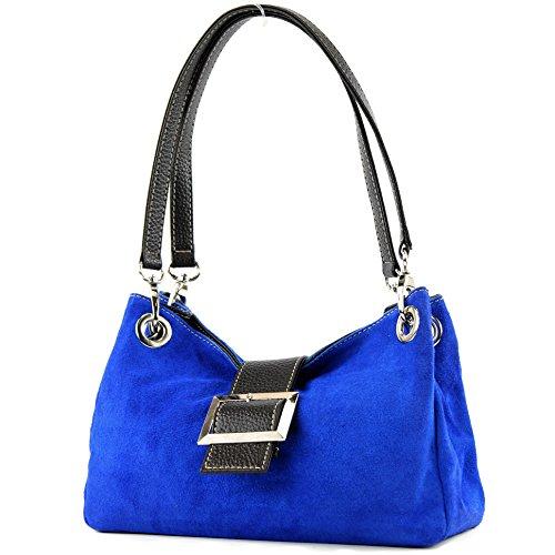 Ital. TL02 -borsa a mano da donna Blu (blu)