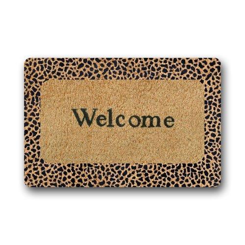 Lavable Felpudo Welcome leopardo para interiores/al aire libre Decor alfombra Felpudo 30(L) X 18(W) pulgadas