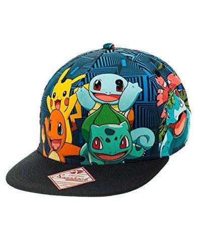 Pokemon-fedsb1psjpok–Charmander-Pikachu-Squirtle-Bulbasaur-Amigos-Gorra-Talla-nica