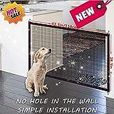 Nifogo Magic Gate Hunde - Schutzgitter Haustiere, Treppenschutzgitter Faltbar Kunststoff Hund Safe...