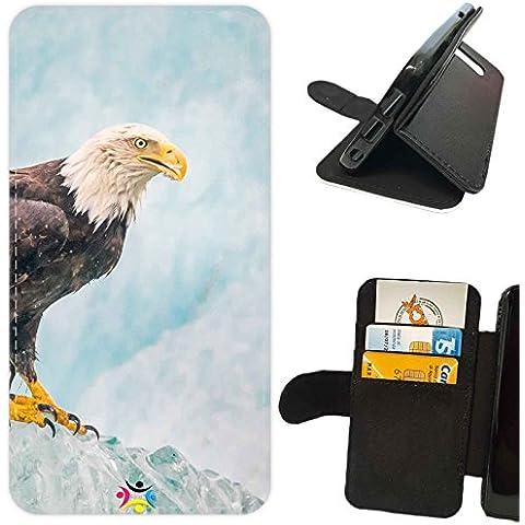 Custodia cover LIBRO PORTAFOGLIO per Apple Iphone 7 -sb 384 Aquila