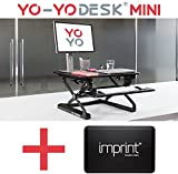 Bundle Offer -Save £30 : Yo-Yo Desk Mini with Standard IMPRINT CumulusPRO comfort mat. Best Selling Height Adjustable Standing Desk [68cm Wide][BLACK] with award winning Standing Desk Anti-fatigue Mat (BLACK). Perfect standing desk bundled solution.