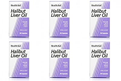 (6 PACK) - HealthAid - Halibut Liver Oil | 90's | 6 PACK BUNDLE from HealthAid