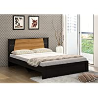 Spacewood Riva Queen Size Bed (Woodpore Finish, Natural Wenge)
