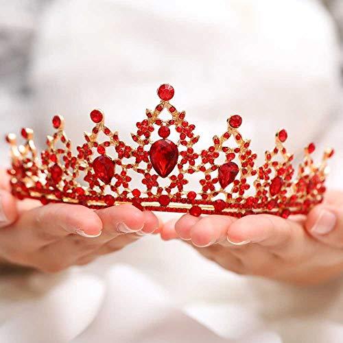 Jovono Braut Hochzeit Kronen Brautschmuck Perlen Kristall Krone Tiara für Frauen und Mädchen