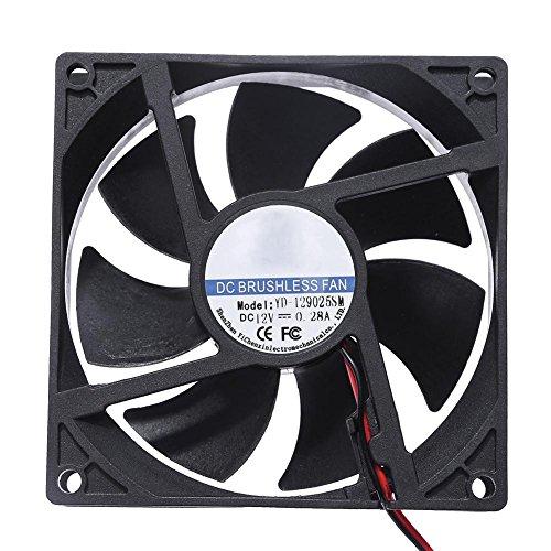 Hillrong Yd-129025sm DC 12V Ventilateur de Refroidissement 90x 90x 25mm 7Lames Ordinateur PC Ventilateur de Refroidissement