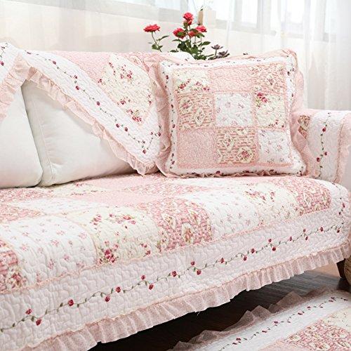 Überwurf Multi-Size Gesteppter Anti-rutsch Pastorale ländlichen Sofa Abdeckung Für sektionaltore Couch 3,4 Kissen Sofahusse-C 70x70cm(28x28inch) ()