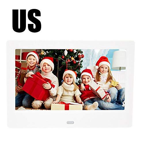 """Wan Ning 7\""""HD Digitaler Fotorahmen mit menschlicher Körpererkennung LED-Bildschirmauflösung 800 480 Elektronische Fotoalbum-Anzeige AD-Maschine (Farbkasten)"""