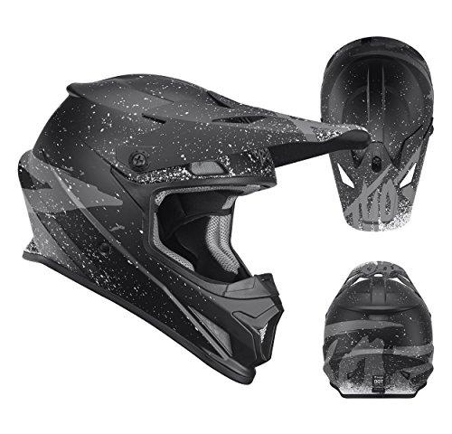 Thor Sector Hype Motocross Enduro MX Crosshelm schwarz rot S (Erwachsene Thor Helm)