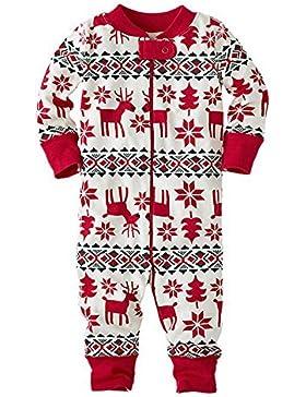 zooarts für 0–18Monaten Baby Mädchen Long Sleeve Weihnachten Deer Print One Piece Body Overall Strampler Outfit...