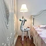 HU HAO UK Stehlampe- Kinder Schöne Cartoon Tier Stehleuchte Schreibtischlampe Tisch Nacht Nachtlicht für Schlafzimmer Wohnzimmer (Farbe : Weiß)