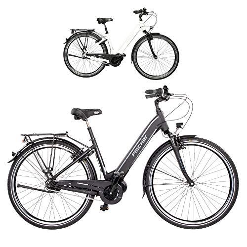 FISCHER E-Bike City CITA 3.1i (2020), schwarz oder weiß matt, 28 Zoll, RH 44 cm, Mittelmotor 50 Nm, 48V Akku im Rahmen