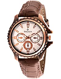 Sheldon Brown Leather Analog Watch For Men SH-1021