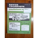 REVUE TECHNIQUE TRACTEUR AGRICOLE MACHINISME FIAT SOMECA 500 540 640 ET BRAUD...
