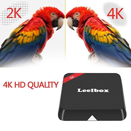 (2016 die Beste) Leelbox Q3 Android TV Box 2 GB/16GB 5G / 2.4G Dual Wi-Fi Bluetooth 4.0 Amlogic S905 Android 5.1 mit 1000M LAN KODI 16.1 Alle Vorinstallierte Pluggins Update von M9S Streaming Media Player - 3