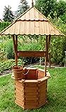 dekofigurentraum Brunnen Holzbrunnen Zierbrunnen 1,70 m mit Brunnenabdeckung imprägniert zerlegbar 1 A Qualität