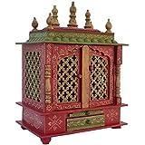 Jodhpur Handicrafts Home Temple / Wooden Temple/ Pooja Mandir / Pooja Temple with Led Bulb