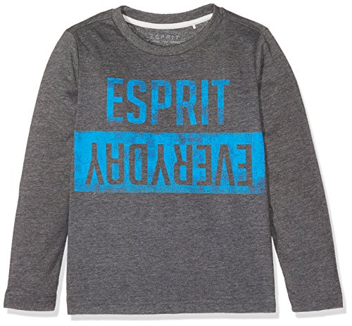 ESPRIT Jungen Langarmshirt RK10164, Grau (Heather Grey 203), 92