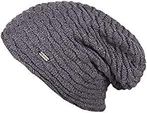 Noise NOICAPWNTR039 Polyester Smoke Wave Knitted Beanie, Adult (Grey)