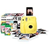 Instax Mini 8 Yellow Instant Camera inc 40 Shots
