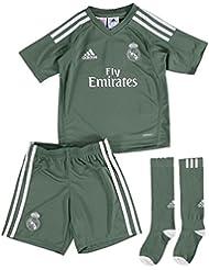 adidas H GK Mini Conjunto Equipación Línea Real Madrid, Unisex, Verde (Vertra / Blanco), 116