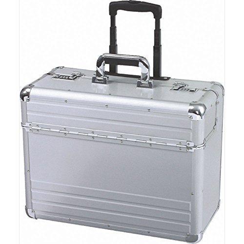Alumaxx Alu-Pilotenkoffer 48x38x23 cm mit Trolleysystem silber