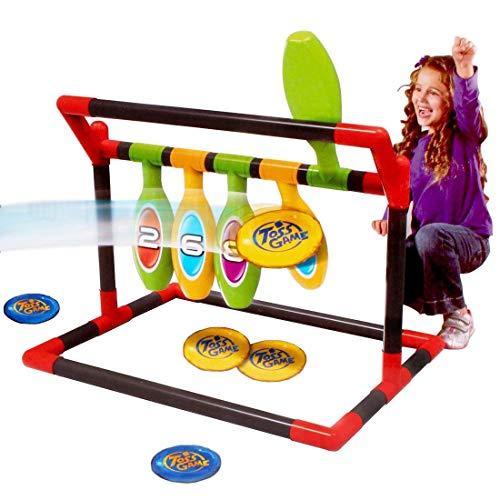 deAO 2-in 1 Bowlingset für Kinder; zielen und treffen für drinnen und draußen,Sportaktivitäten für Kinder und die ganze Familie -