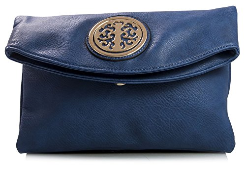 Big Handbag Shop - Borsa a tracolla donna (Navy medio)