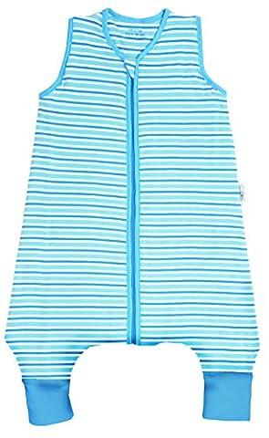Schlummersack Schlafsack mit Füßen ganzjährig in 2.5 Tog - blaue Streifen - 18-24 Monate/90 cm (Hello Kitty Hochstuhl)