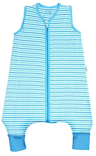 Schlummersack Baby Ganzjahresschlafsack mit Füssen 2.5 Tog - Blue Stripes - 12-18 Monate/80 cm