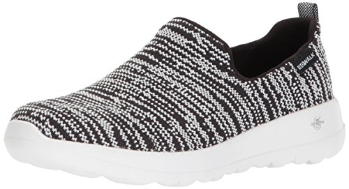 Skechers Damen Go Walk Joy-Nirvana Slip On Sneaker, Schwarz (Black/White), 36 EU Nirvana Textil