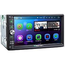 """Eonon GA2165 7 """"Doble Din 2Din Autoradio Car Radio estéreo con navegación por satélite Android 7.1 2 GB de RAM Autoradio GPS Sat Navigation Head Unit para vehículos, auto, camión, pantalla táctil capacitiva de 7 pulgadas 1024x600 Alta definición Bluetooth 4.0 DAB + RDS WIFI 4G 3G, soporte Dash Cam OBD2 Cam-In, control del volante AUX Subwoofer Audio"""