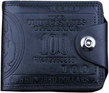 Leather Wallet for Men EUZeo Bifold Business Wallet ID Credit Card Holder Purse Pockets Clearance Sale Black