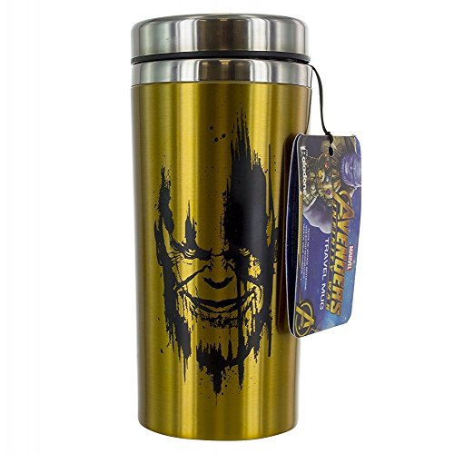 Marvel Avengers - Thanos Infinity Gauntlet - Thermobecher | 450 ml | Offizielles Merchandise | Marvel