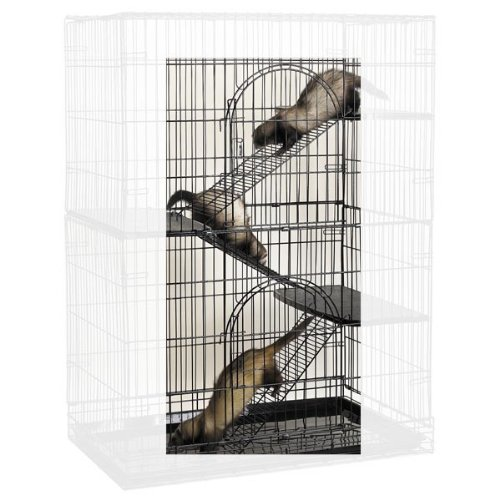 ProSelect Futternapf zum Aufhängen Stahl Katze Käfig Rampe Kit, Set of 3 (Stahl-rampe)